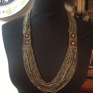 Beautiful beaded necklace with lots of detail